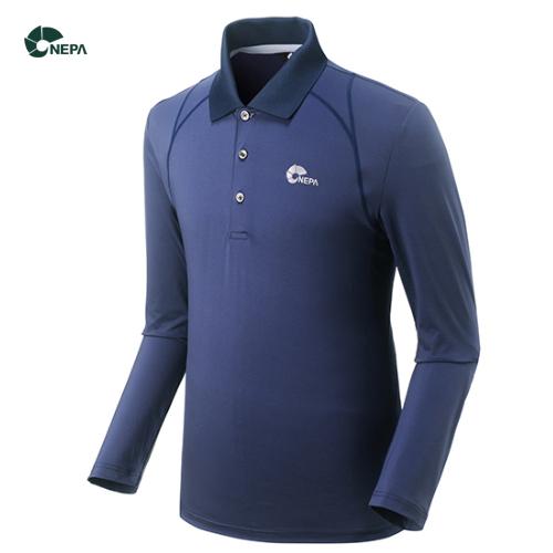 네파 남성 폴로 긴팔 티셔츠 7B55291 네이비