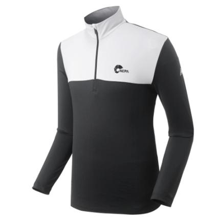 [네파] 남성 긴팔 집엎 티셔츠 7B55491 블랙