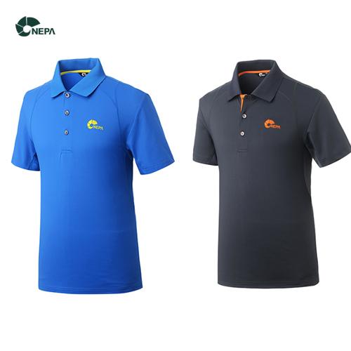 [네파] 남성 조쉬 폴로 반팔 티셔츠 7B35291 블루/차콜그레이