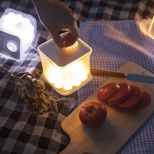 Dvise airlux bandi 에어룩스 큐브 태양광 LED 랜턴 (화이트)