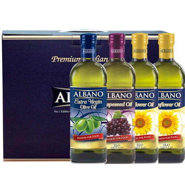 19년설 알바노 이탈리아 선물세트 올리브유 + 포도씨유 + 해바라기 + 해바라기 500ml 4P