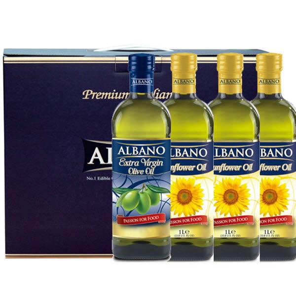 19년설 알바노 이탈리아 선물세트 올리브유 + 해바라기 + 해바라기 + 해바라기 500ml 4P