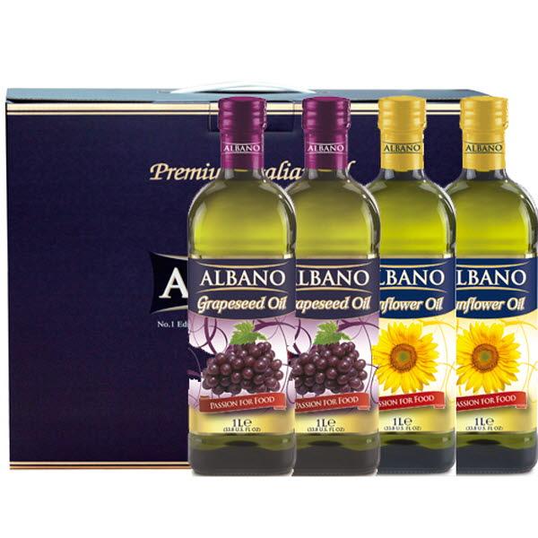 19년설 알바노 이탈리아 선물세트 포도씨유 + 포도씨유 + 해바라기 + 해바라기 500ml 4P