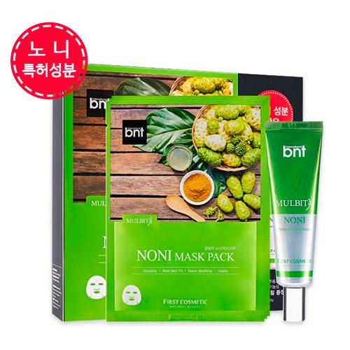 퍼스트코스메틱 물빛미 노니 마스크팩 스페셜 세트 (마스크팩 30g 10매 + 아이크림30g)